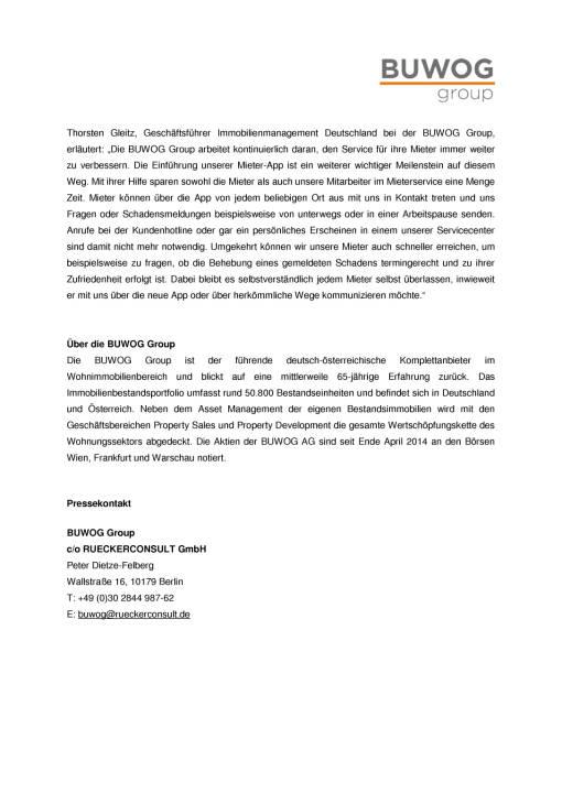 Buwog Group führt Mieter-App ein, Seite 2/2, komplettes Dokument unter http://boerse-social.com/static/uploads/file_2116_buwog_group_fuhrt_mieter-app_ein.pdf