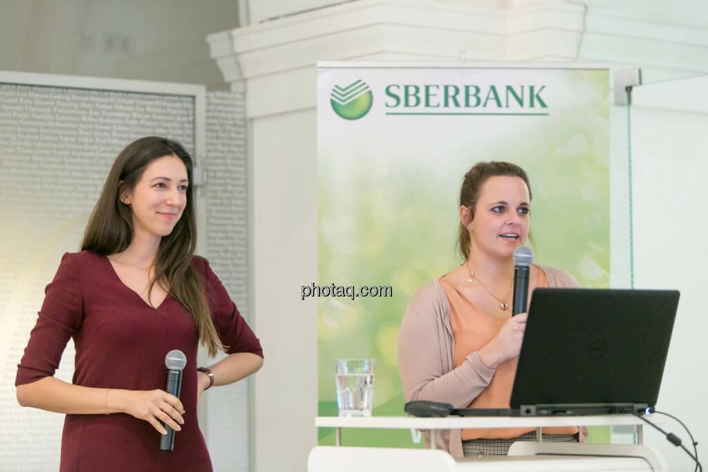 Linda Michalech (Sberbank), Anja Soffa (Sberbank), © Martina Draper/photaq (16.02.2017)