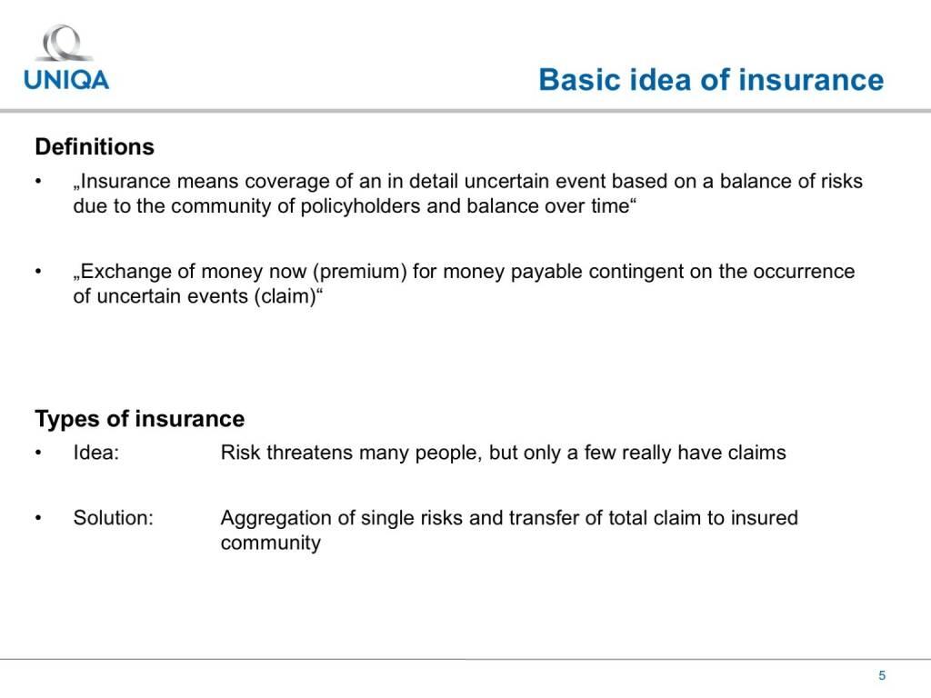 Uniqa - Basic idea of insurance (17.02.2017)