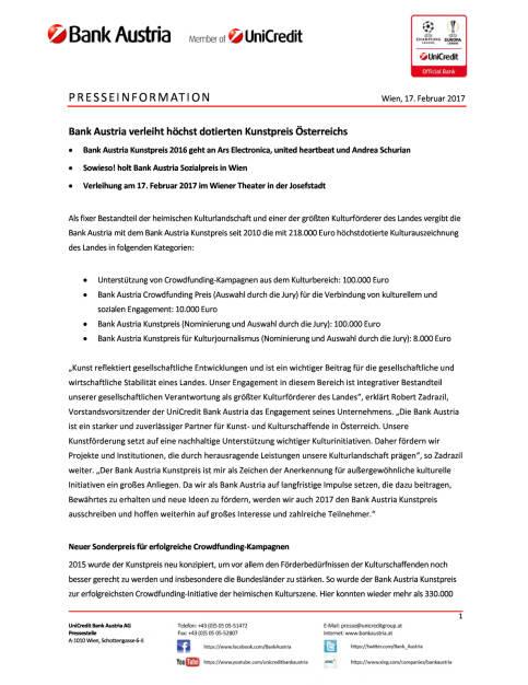 Bank Austria verleiht höchst dotierten Kunstpreis Österreichs, Seite 1/4, komplettes Dokument unter http://boerse-social.com/static/uploads/file_2117_bank_austria_verleiht_hochst_dotierten_kunstpreis_osterreichs.pdf (17.02.2017)