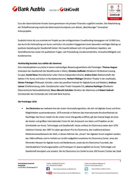 Bank Austria verleiht höchst dotierten Kunstpreis Österreichs, Seite 2/4, komplettes Dokument unter http://boerse-social.com/static/uploads/file_2117_bank_austria_verleiht_hochst_dotierten_kunstpreis_osterreichs.pdf (17.02.2017)