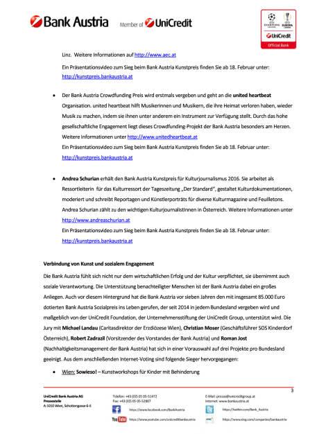 Bank Austria verleiht höchst dotierten Kunstpreis Österreichs, Seite 3/4, komplettes Dokument unter http://boerse-social.com/static/uploads/file_2117_bank_austria_verleiht_hochst_dotierten_kunstpreis_osterreichs.pdf (17.02.2017)