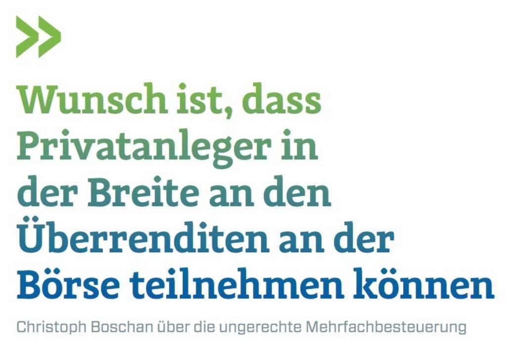 Wunsch ist, dass Privatanleger in der Breite an den Überrenditen an der Börse teilnehmen können Christoph Boschan über die ungerechte Mehrfachbesteuerung, © photaq.com/Börse Social Magazine (25.02.2017)