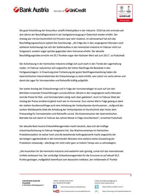 Bank Austria EinkaufsManagerIndex im Februar: Österreichs Industrie weiter gut in Fahrt, Seite 3/4, komplettes Dokument unter http://boerse-social.com/static/uploads/file_2129_bank_austria_einkaufsmanagerindex_im_februar_osterreichs_industrie_weiter_gut_in_fahrt.pdf (27.02.2017)