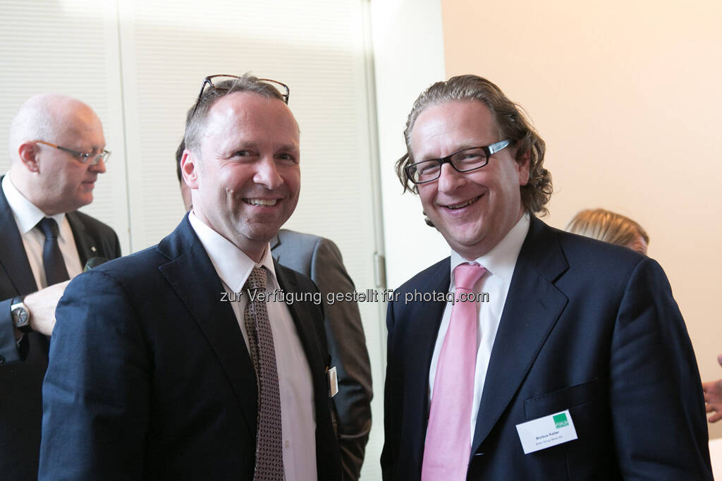 Frank Weingarts (UniCredit), Markus Kaller (Erste Group), © Martina Draper für BE / finanzmarktfoto.at (14.05.2013)