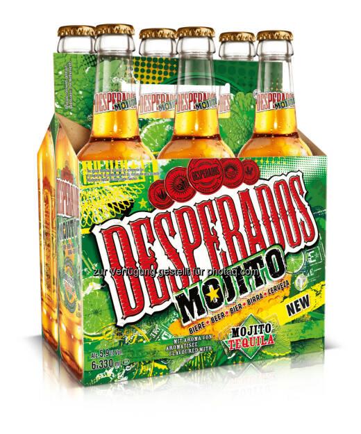 Brau Union Österreich AG: Neue Sorte Tequila flavoured Beer: Mit Desperados Mojito kommt die Karibik nach Österreich (Fotocredit: Brau Union Österreich), © Aussendung (02.03.2017)