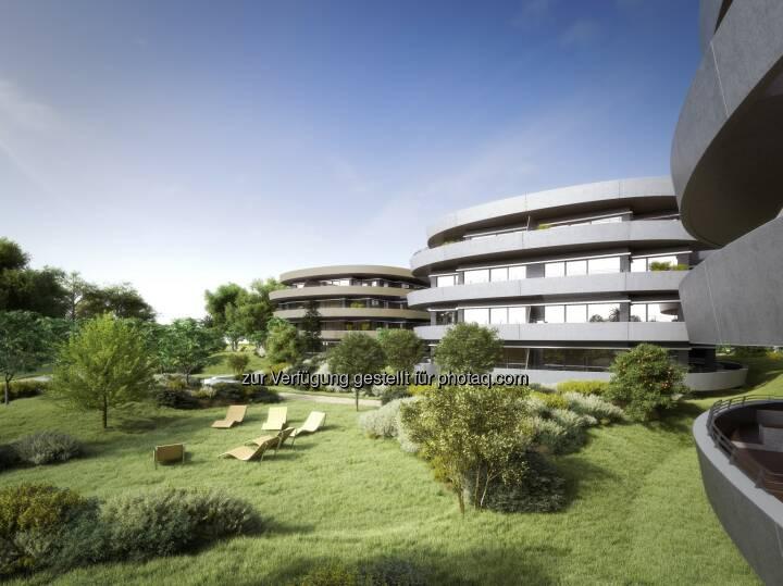 RONDO Terrassenwohnungen - IC Development GmbH: DACHGLEICHE IM VIERTEL ZWEI (Fotocredit: IC Development)