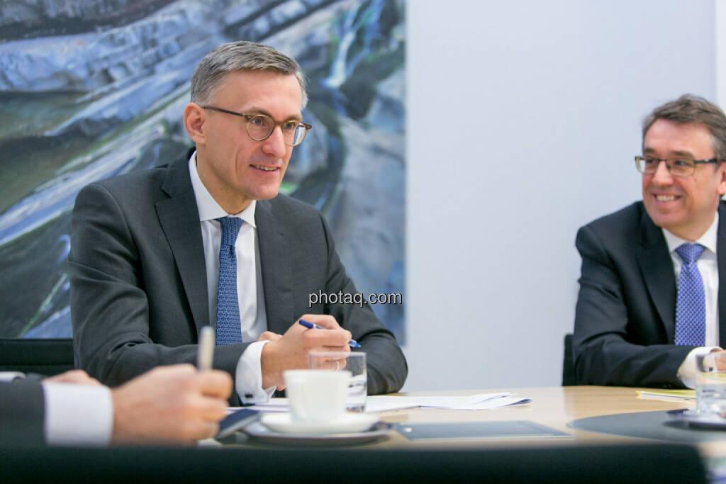 Robert Ottel (voestalpine, Aktienforum), Harald Hagenauer (Österreichische Post, C.I.R.A.), © Martina Draper/photaq (03.03.2017)