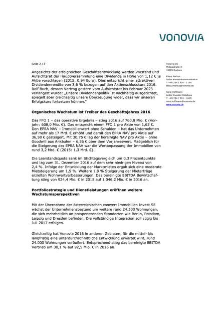 Vonovia: Geschäftsjahr 2016, Seite 2/7, komplettes Dokument unter http://boerse-social.com/static/uploads/file_2141_vonovia_geschaftsjahr_2016.pdf (07.03.2017)