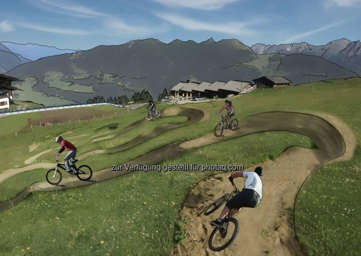 Ein Skills Area schult die Technik und Geschicklichkeit auf dem Bike - Kitzbüheler Alpen - St. Johann Oberndorf-Kirchdorf-Erpfendorf: Region St. Johann in Tirol zündet den Bike-Turbo (Fotocredit: Allegra Tourismus)