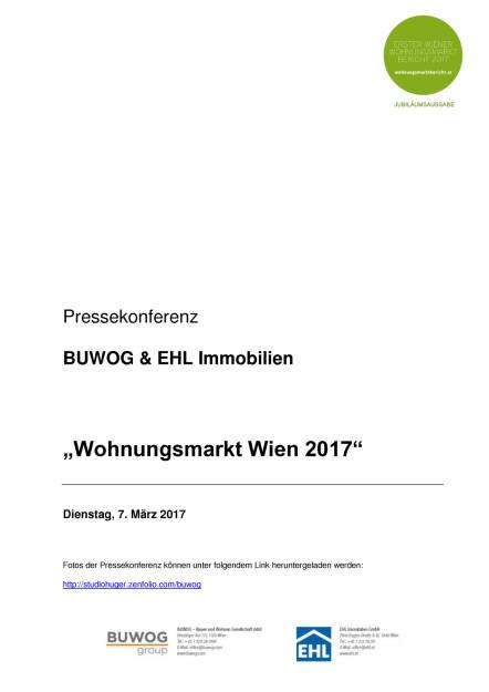 Buwog & EHL Immobilien: Wohnungsmarkt Wien 2017, Seite 1/10, komplettes Dokument unter http://boerse-social.com/static/uploads/file_2142_buwog_ehl_immobilien_wohnungsmarkt_wien_2017.pdf (07.03.2017)