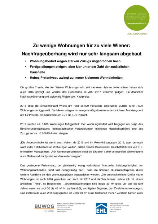 Buwog & EHL Immobilien: Wohnungsmarkt Wien 2017, Seite 2/10, komplettes Dokument unter http://boerse-social.com/static/uploads/file_2142_buwog_ehl_immobilien_wohnungsmarkt_wien_2017.pdf