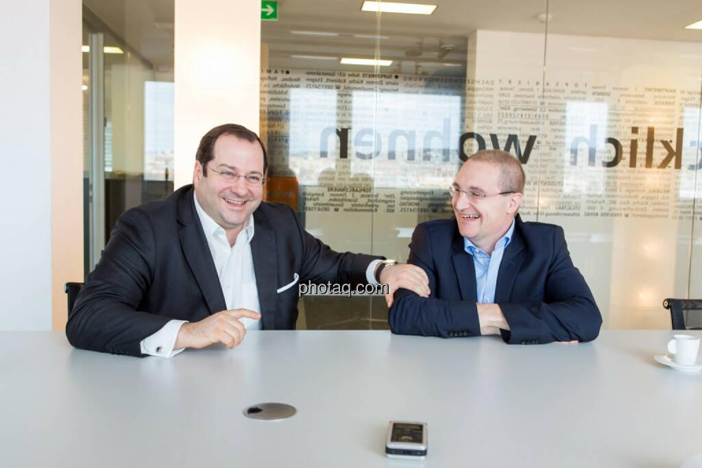 Daniel Riedl (CEO Buwog), Andreas Segal (CFO Buwog), © Martina Draper/photaq (07.03.2017)