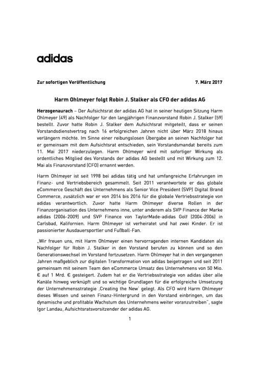 adidas: Harm Ohlmeyer neuer CFO, Seite 1/3, komplettes Dokument unter http://boerse-social.com/static/uploads/file_2143_adidas_harm_ohlmeyer_neuer_cfo.pdf