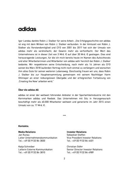adidas: Harm Ohlmeyer neuer CFO, Seite 2/3, komplettes Dokument unter http://boerse-social.com/static/uploads/file_2143_adidas_harm_ohlmeyer_neuer_cfo.pdf (07.03.2017)