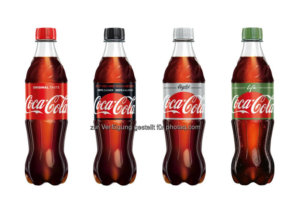 Coca-Cola Varianten (Fotocredit: Coca Cola) (08.03.2017)