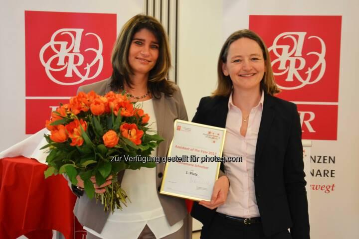 Annemarie Schnelzer, Österreichische Bundesforste AG; DI Barbara Steffl, IIR GmbH - IIR GmbH: Professionelles Office Management ist keine Selbstverständlichkeit (Fotocredit: IIR GmbH)