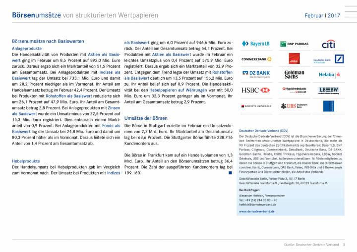 Deutsche Börsenumsätze von strukturierten Wertpapieren im Februar bei 3,5 Mrd. Euro, Seite 3/9, komplettes Dokument unter http://boerse-social.com/static/uploads/file_2154_deutsche_borsenumsatze_von_strukturierten_wertpapieren_im_februar_bei_35_mrd_euro.pdf