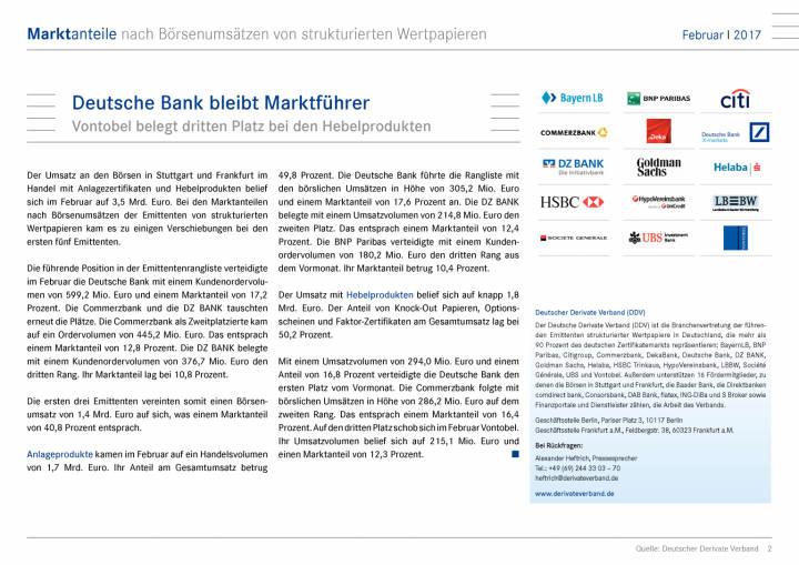 Marktanteile nach Börsenumsätze: Deutsche Bank bleibt Marktführer, Seite 2/15, komplettes Dokument unter http://boerse-social.com/static/uploads/file_2153_marktanteile_nach_borsenumsatze_deutsche_bank_bleibt_marktfuhrer.pdf