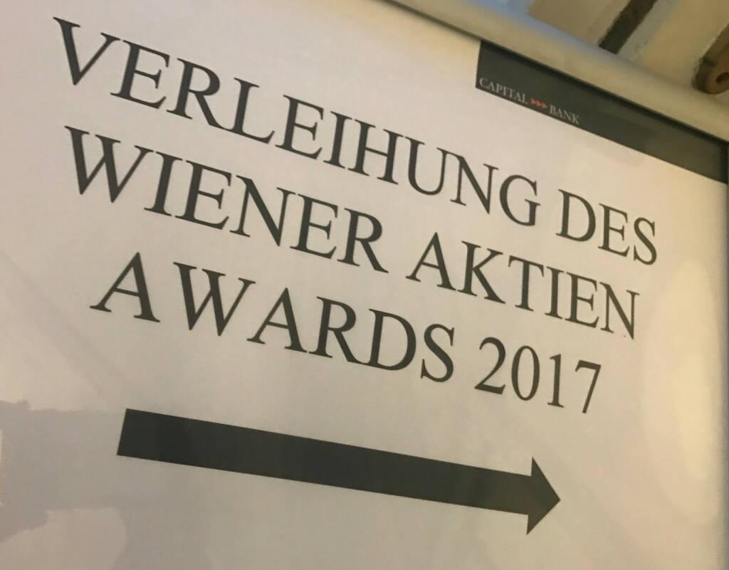 Wiener Aktien Award 2017 in der Capital Bank (09.03.2017)