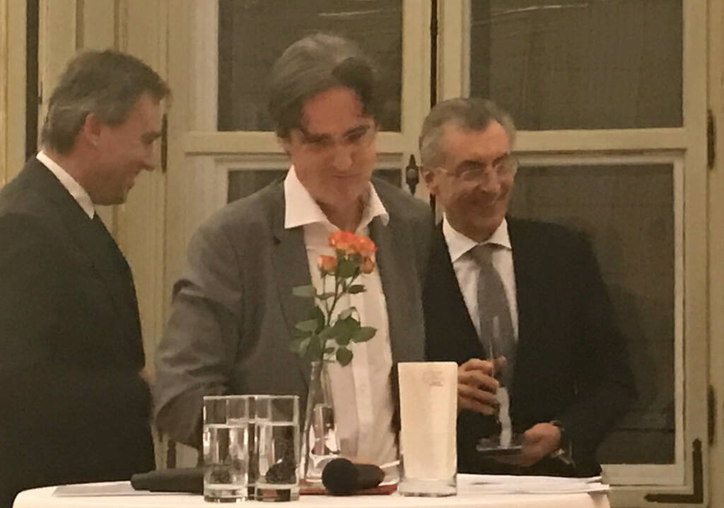 Christian Jauk, Martin Kwauka, Thomas Birtel beim Wiener Aktien Award 2017 in der Capital Bank (09.03.2017)