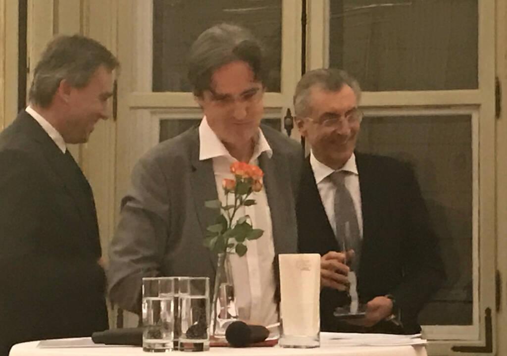 Christian Jauk, Martin Kwauka, Thomas Birtel beim Wiener Aktien Award 2017 in der Capital Bank (09.03.2017)