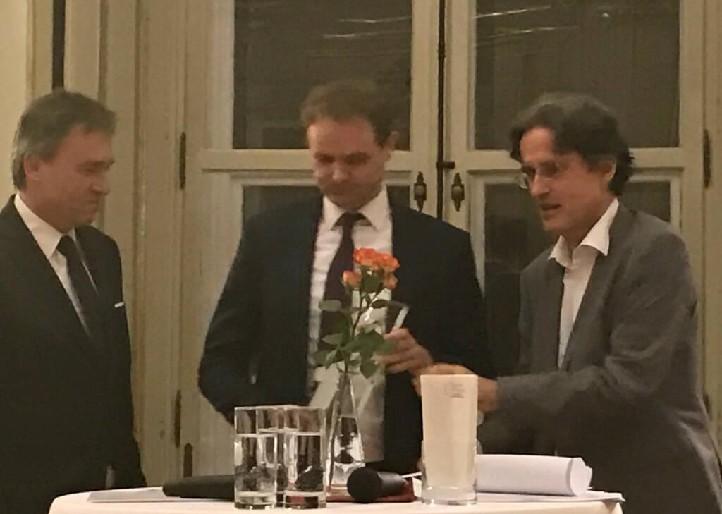 Christian Jauk, Hannes Haider, Martin Kwauka beim Wiener Aktien Award 2017 in der Capital Bank (09.03.2017)