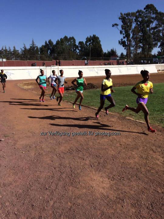 Läuferinnen, laufen, track and field, Äthiopien
