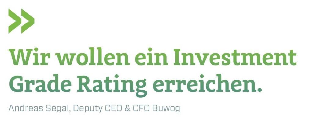 Wir wollen ein Investment Grade Rating erreichen. Andreas Segal, Deputy CEO & CFO Buwog, © photaq.com/Börse Social Magazine (12.03.2017)
