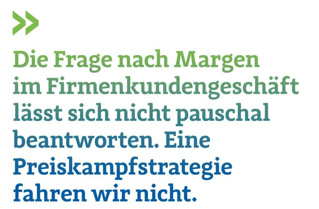 Die Frage nach Margen im Firmenkundengeschäft lässt sich nicht pauschal beantworten. Eine Preiskampfstrategie fahren wir nicht. Karin Gregor, Großkunden-Bereichsleiterin bei ING-DiBa Austria, © photaq.com/Börse Social Magazine (12.03.2017)