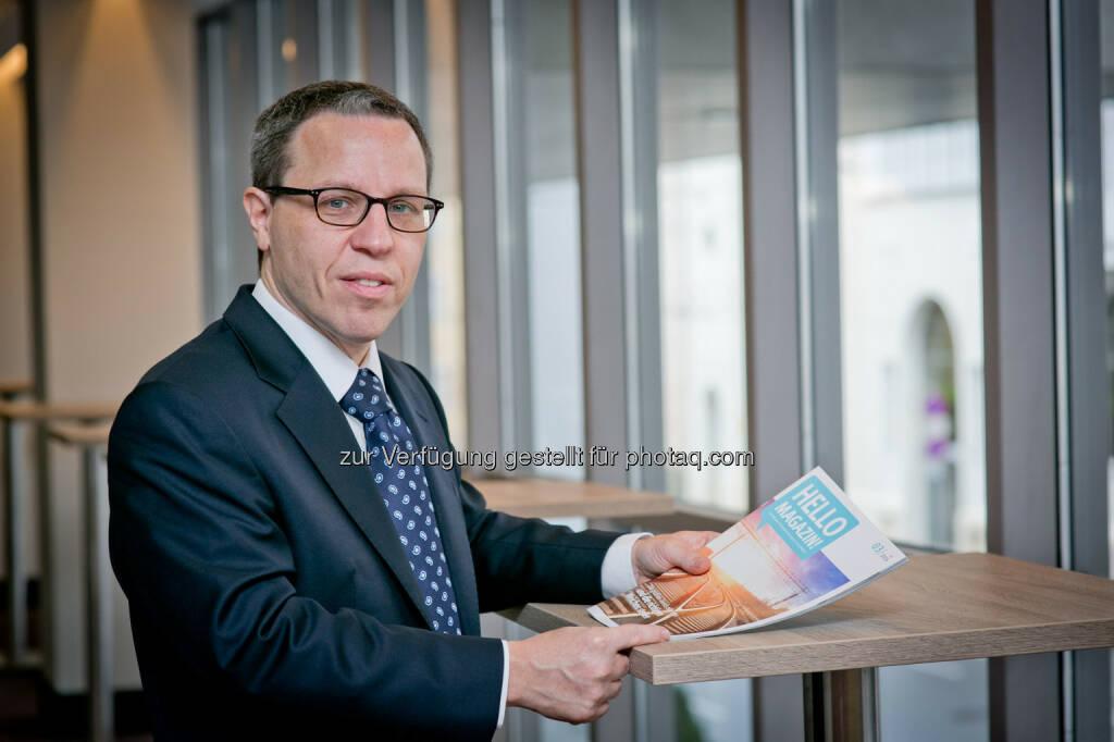 """Gérard Derszteler, CEO Hello bank! Österreich: """"In den Top Ten der weltweit größten Börsen nach Aktienvolumen sind bereits vier asiatische Handelsplätze vertreten"""", sagt Gérard Derszteler, Vorstandsvorsitzender in der Hello bank! Österreich. (14.03.2017)"""