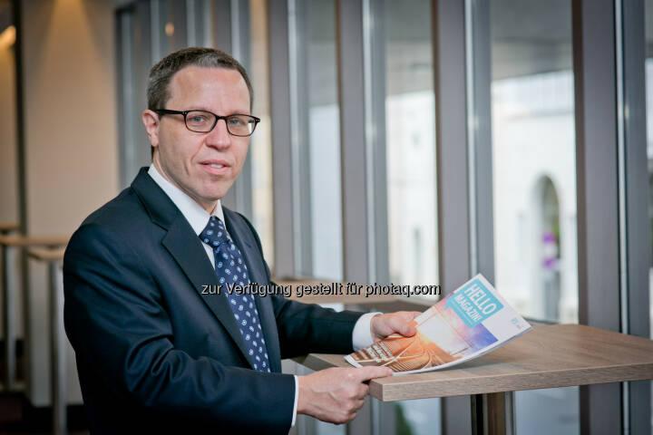 """Gérard Derszteler, CEO Hello bank! Österreich: """"In den Top Ten der weltweit größten Börsen nach Aktienvolumen sind bereits vier asiatische Handelsplätze vertreten"""", sagt Gérard Derszteler, Vorstandsvorsitzender in der Hello bank! Österreich."""