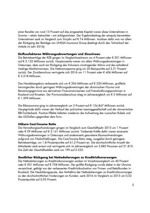 RZB: Konzernergebnis 2016, Seite 2/4, komplettes Dokument unter http://boerse-social.com/static/uploads/file_2162_rzb_konzernergebnis_2016.pdf