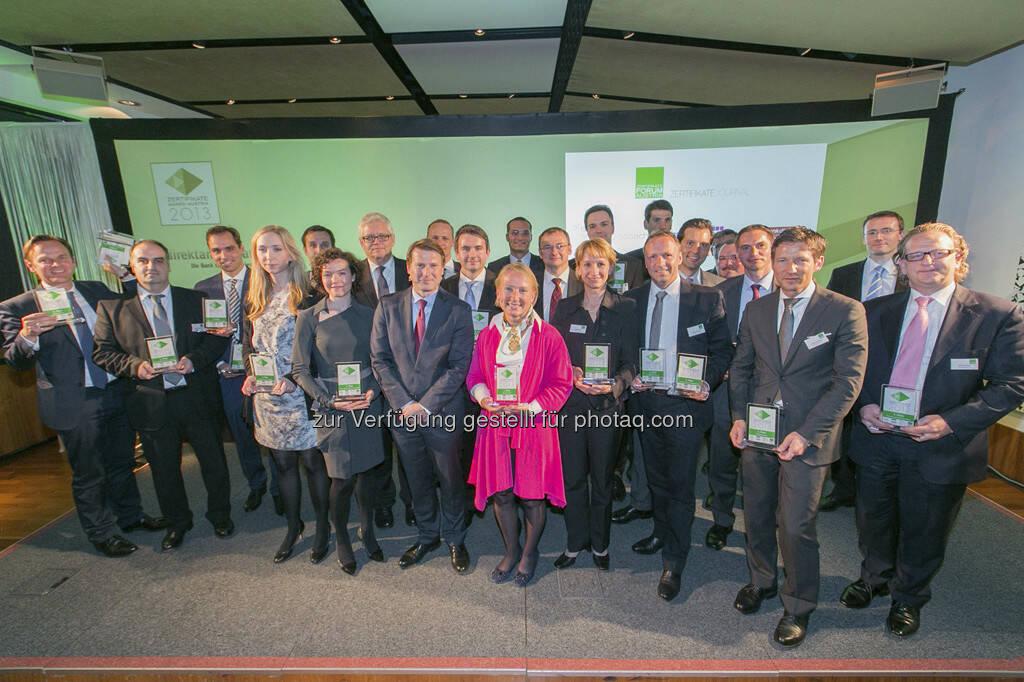 Zertifikate Award Austria 2013, © Martina Draper für BE / finanzmarktfoto.at (14.05.2013)