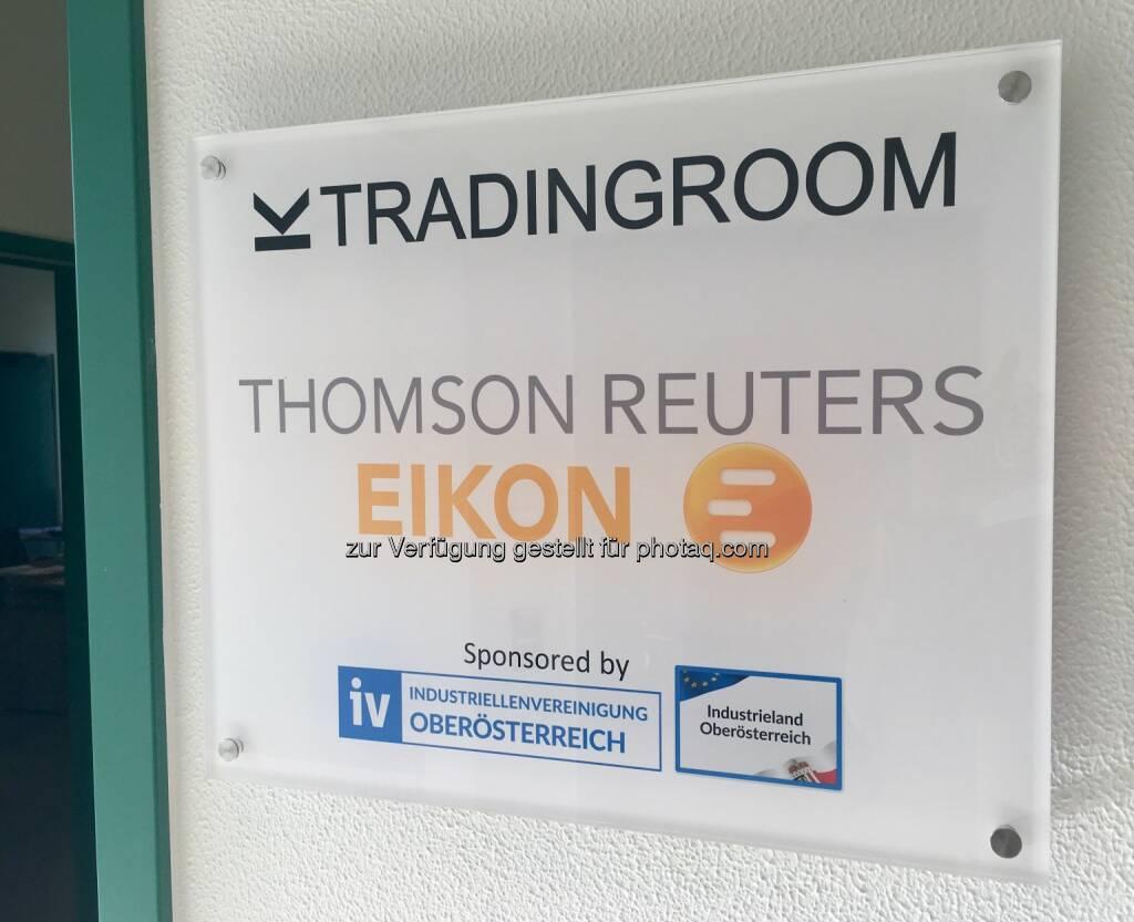 Tradingroom Thomson Reuters Eikon (19.03.2017)