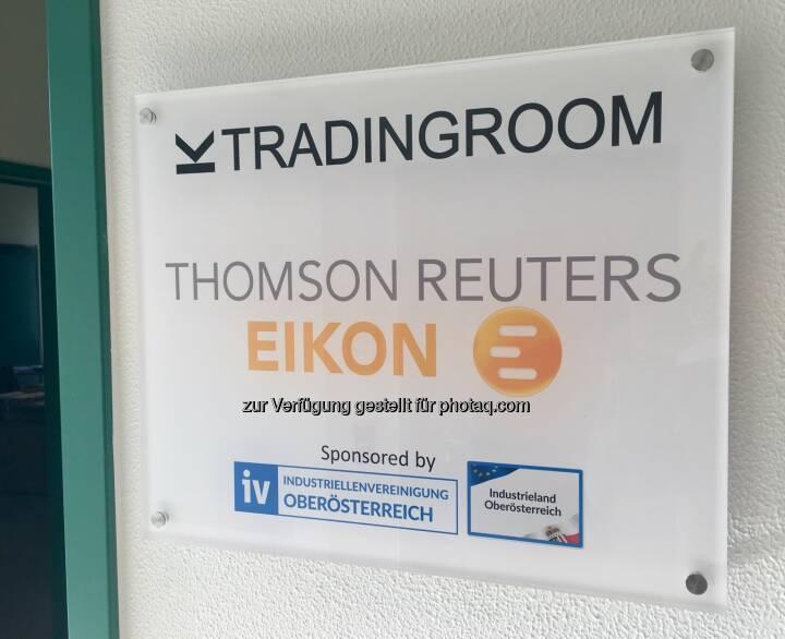 Tradingroom Thomson Reuters Eikon
