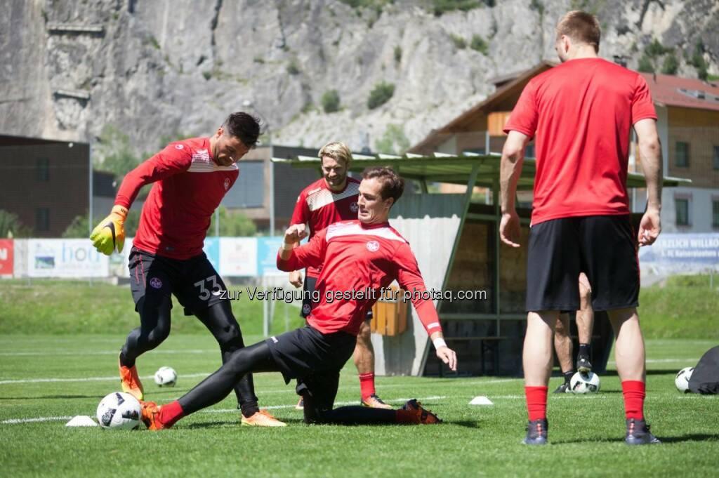 Ferienregion TirolWest: Die Roten Teufel trainieren im Sommer wieder in Zams! (Fotocredit: 1. FC Kaiserslautern), © Aussender (20.03.2017)