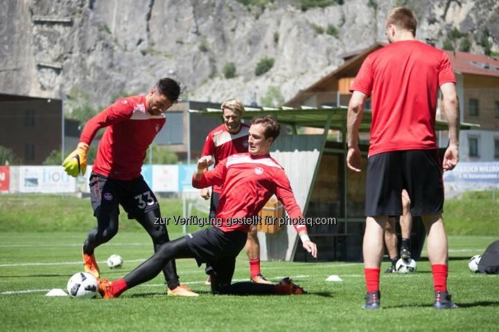 Ferienregion TirolWest: Die Roten Teufel trainieren im Sommer wieder in Zams! (Fotocredit: 1. FC Kaiserslautern)