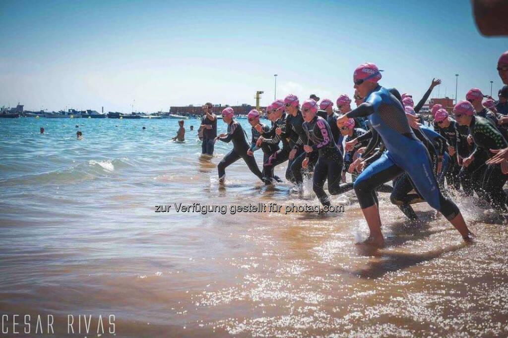 Tanja Stroschneider, Triathlon, Schwimmen, Start, Meer, © Tanja Stroschneider (20.03.2017)