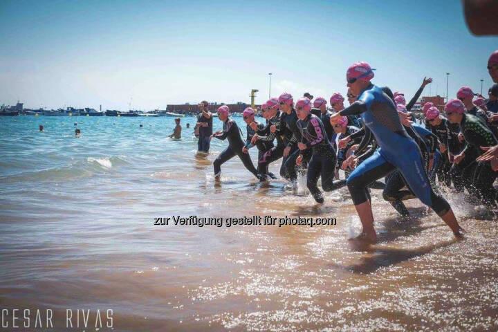 Tanja Stroschneider, Triathlon, Schwimmen, Start, Meer