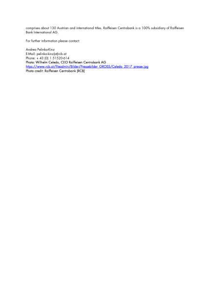 Raiffeisen Centrobank Investorenkonferenz vom 27.-29. März 2017 in Zürs am Arlberg, Seite 3/3, komplettes Dokument unter http://boerse-social.com/static/uploads/file_2168_raiffeisen_centrobank_investorenkonferenz_vom_27-29_marz_2017_in_zurs_am_arlberg.pdf (20.03.2017)