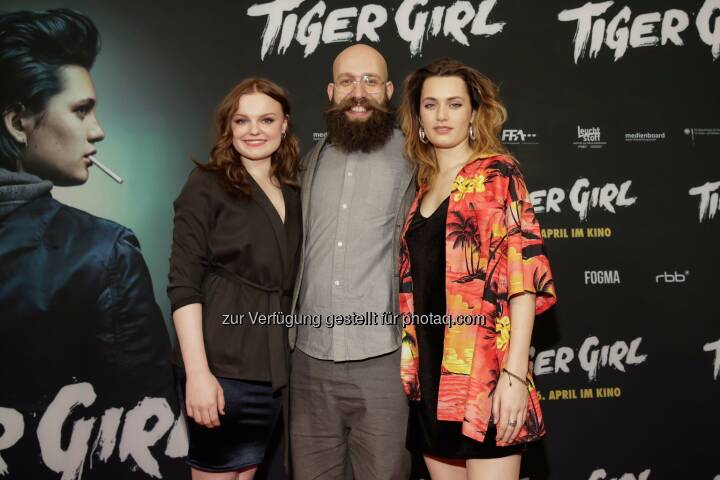 Maria Dragus, Jakob Lass, Ella Rumpf. Tiger Girl -Premiere im Zoo Palast in Berlin am 20.03.2017. Constantin Film Verleih. - Constantin Film: TIGER GIRL feiert Premiere in Berlin (Fotocredit: Constantin Film)