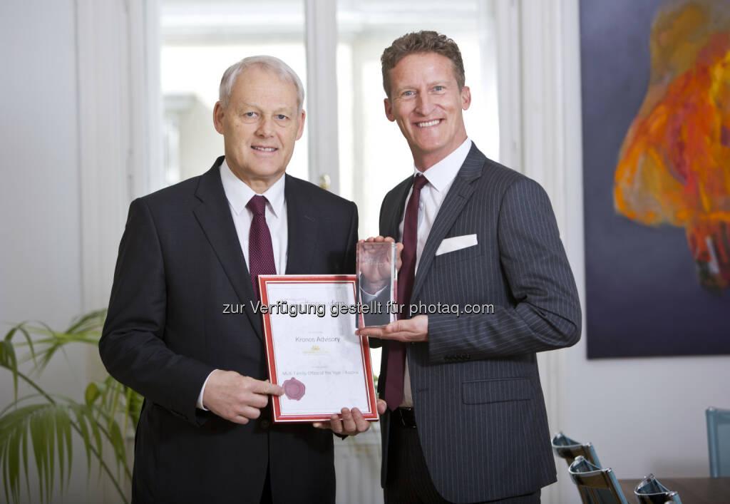 Geschäftsführer der KRONOS Advisory GmbH, Mag. Charles van Erp und Sven Rischko - KRONOS Advisory GmbH: Große internationale Auszeichnung für KRONOS Advisory (Fotocredit: Diema Communications), © Aussender (22.03.2017)