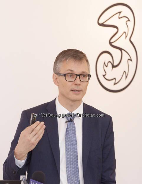CEO Jan Trionow - Hutchison Drei Austria Gmbh: 3Bilanz 2016: Starkes Ergebnis, Umsatz 5 Prozent gestiegen (Fotocredit: Hutchinson Drei Austria/APA-Fotoservice/Martin Lusser), © Aussender (22.03.2017)