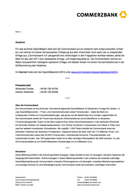 Commerzbank veröffentlicht Geschäftsbericht 2016, Seite 3/4, komplettes Dokument unter http://boerse-social.com/static/uploads/file_2177_commerzbank_veroffentlicht_geschaftsbericht_2016.pdf