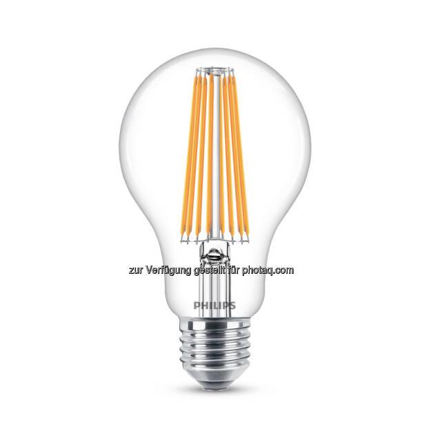 Die LED-Technologie ermöglicht Energieeinsparungen von 80%. Besonders beliebt sind LED Filament Lampen mit ihrem dekoraktiven Aspekt. - Philips Lighting Austria GmbH: Nachhaltigkeit als Herzstück der Geschäftsstrategie von Philips Lighting (Fotocredit: Philips Lighting), © Aussendung (24.03.2017)