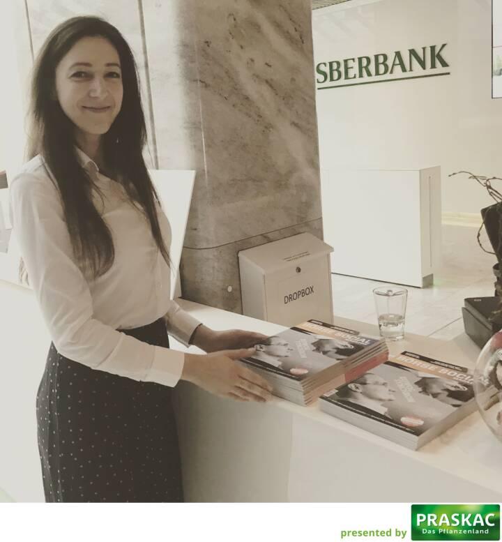 Bei der Sberbank mit Linda Michalech