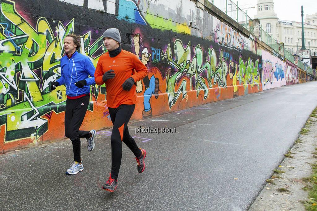 Johannes Rogy (Nordea), Christian Drastil (CD Comm.), © Martina Draper (15.12.2012)