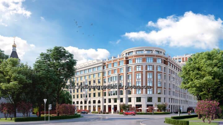 """Strabag errichtet in Moskau eine schlüsselfertige Luxus-Wohnanlage - Luxus-Wohnanlage """"Leben auf Pluschiha"""" in Moskau (Bildnachweis: AO Don-Stroy Invest)"""