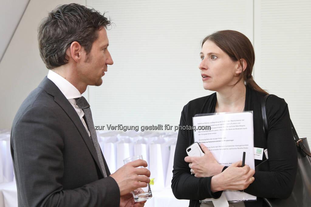 Thomas Schaufler (Erste Group), Alexandra Berger-Vogel (Scholdan), © Norbert Novak für das ZFA (14.05.2013)